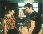 Brigit Forsyth & Rodney Bewes THE LIKELY LADS - Genuine Signed Autograph 10x8 COA   10183